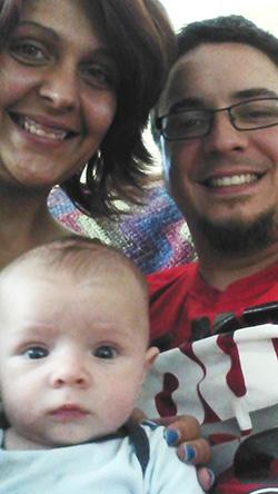 Ryan Heard with his family