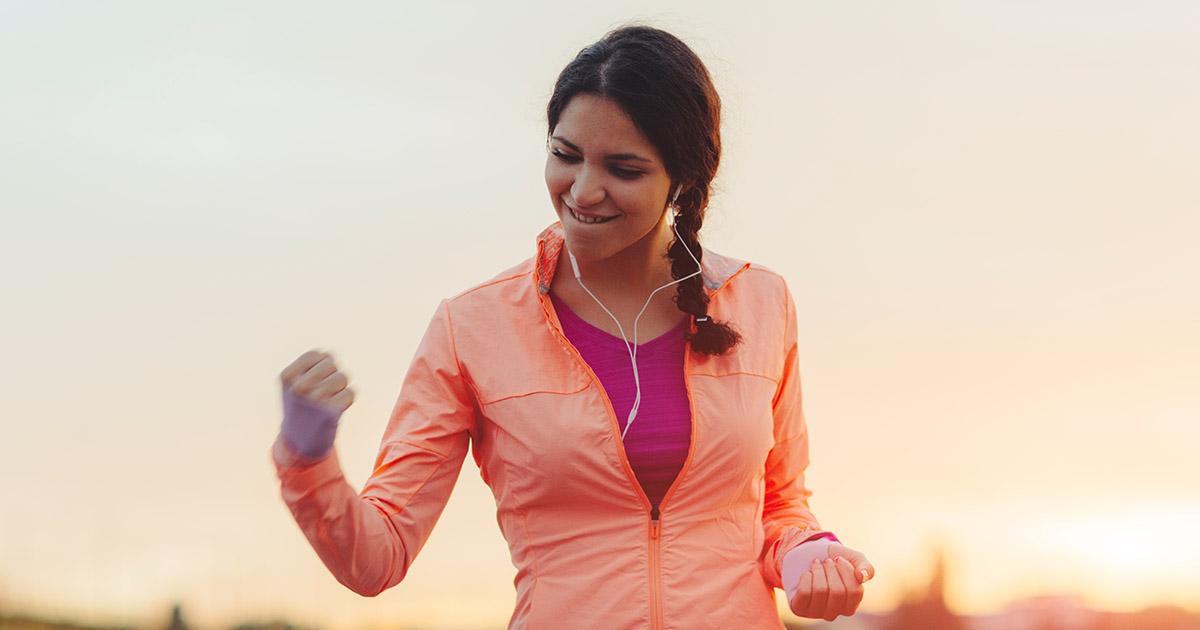 Woman celebrating a milestone