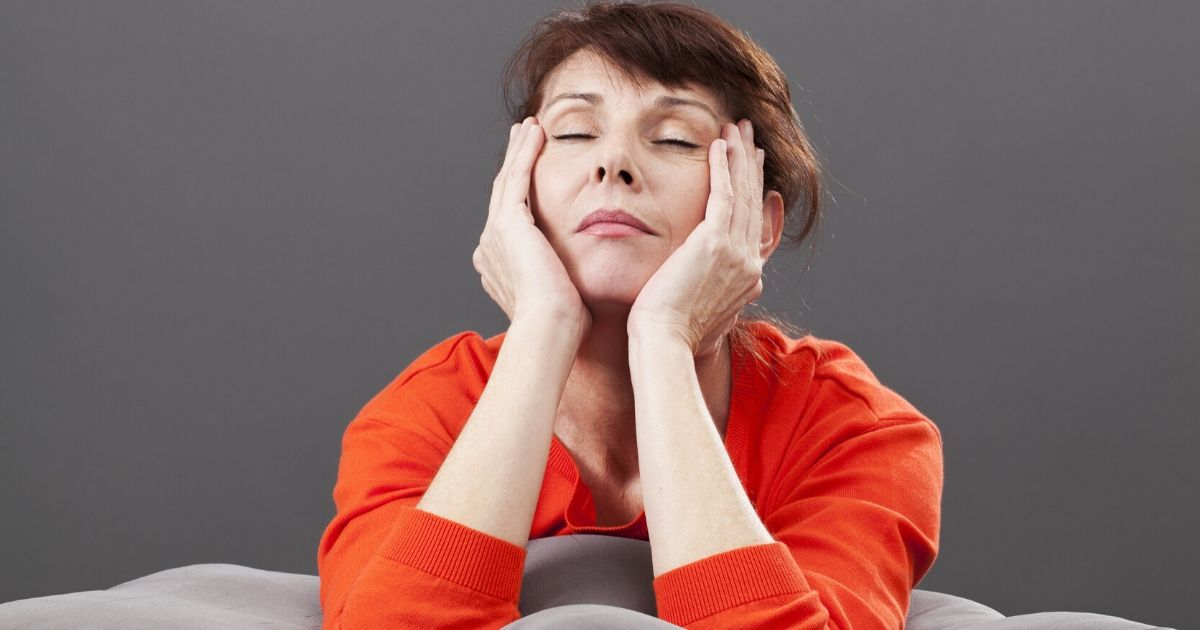 a mature woman experiencing symptoms of depression